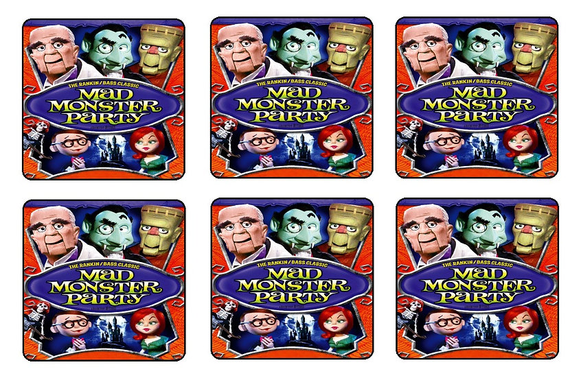 MAD MONSTER PARTY BEVERAGE COASTERS