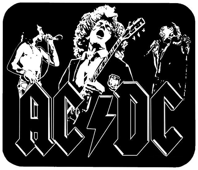 AC/DC MOUSE PAD - (B&W)