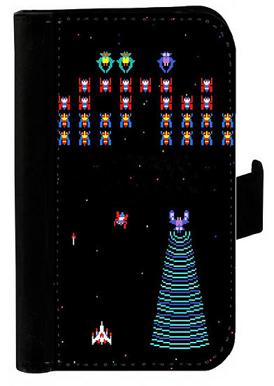 GALAGA RETRO  IPHONE OR GALAXY  WALLET