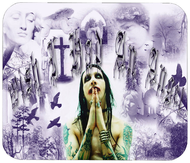 MARILYN MANSON MOUSE PAD - (P)