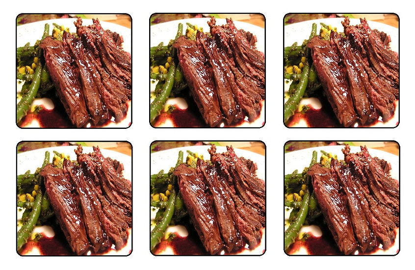 SKIRT STEAK BEVERAGE COASTERS