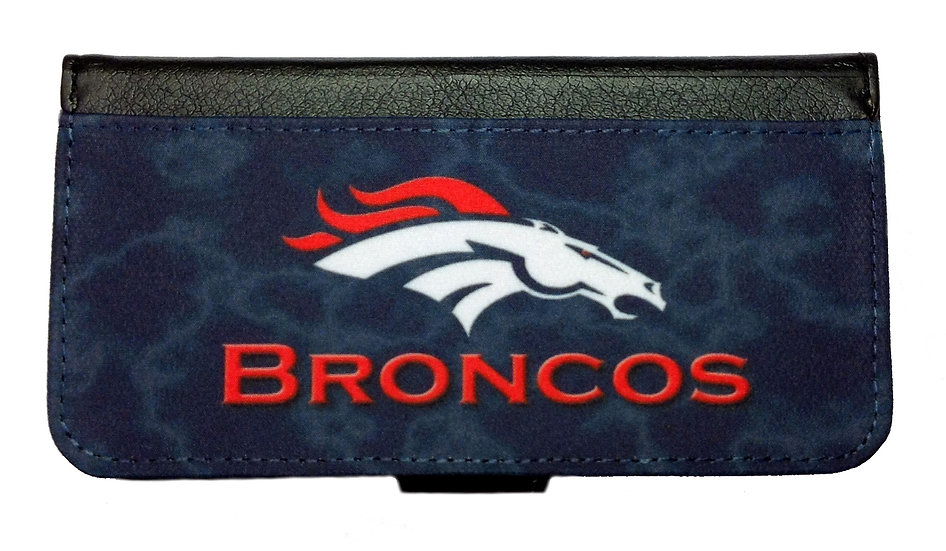 DENVER BRONCOS IPHONE OR GALAXY CELL PHONE CASE WALLET