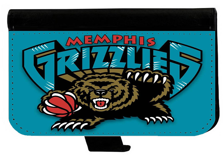MEMPHIS GRIZZLIES IPHONE OR GALAXY CELL PHONE CASE WALLET