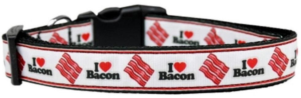 I LOVE BACON DOG COLLAR