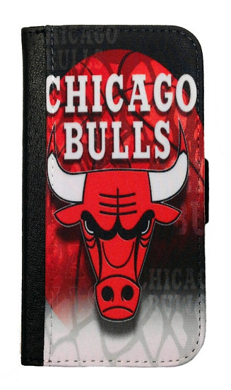 CHICAGO BULLS IPHONE OR GALAXY CELL PHONE CASE WALLET
