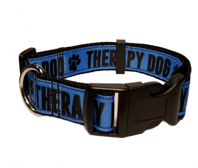 THERAPY DOG COLLAR - BLUE