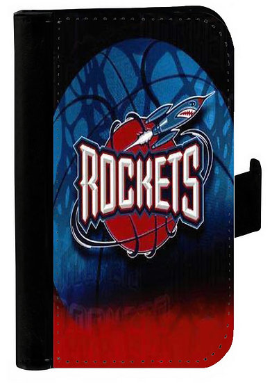 HOUSTON ROCKETS IPHONE OR GALAXY CELL PHONE CASE WALLET