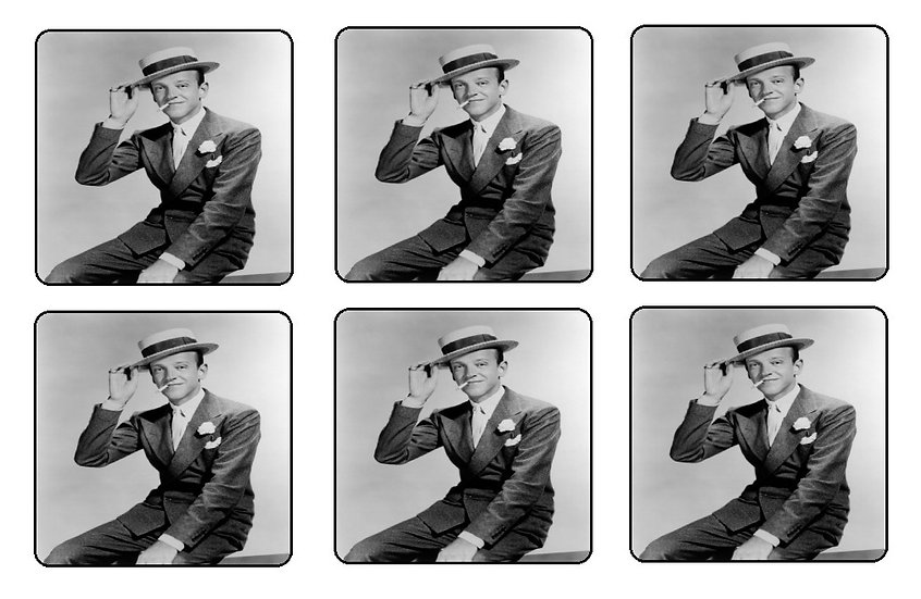 FRED ASTAIRE BEVERAGE COASTERS
