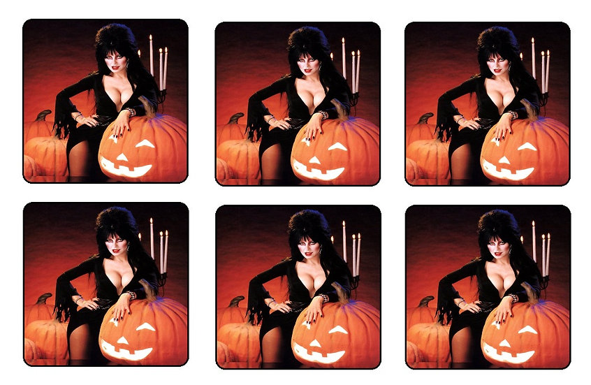 ELVIRA MISTRESS OF THE DARK BEVERAGE COASTERS