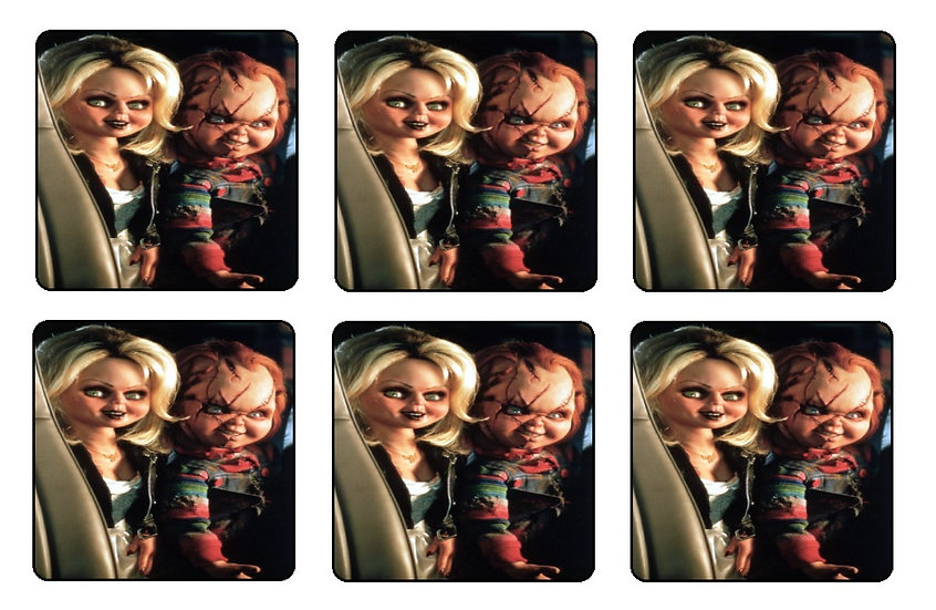 BRIDE OF CHUCKY COASTERS