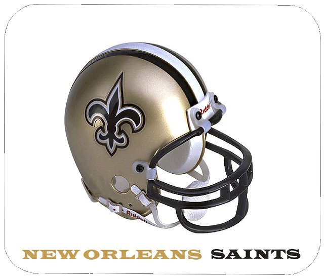 NEW ORLEANS SAINTS MOUSE PAD - (HEL)