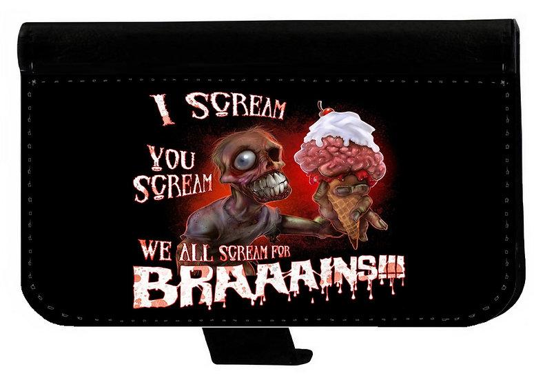 I SCREAM BRAINS! - LEATHER WALLET