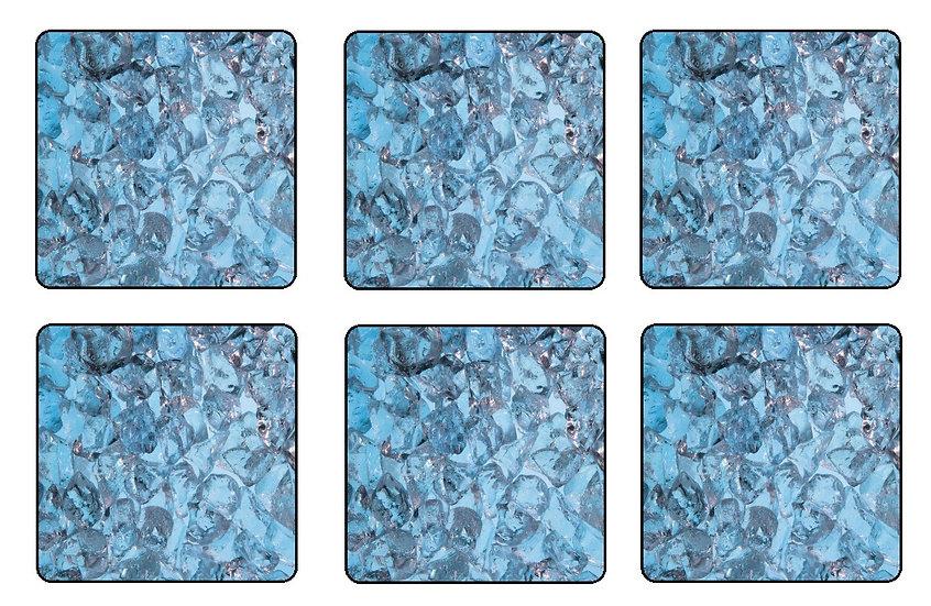 ICE WATER BEVERAGE COASTERS