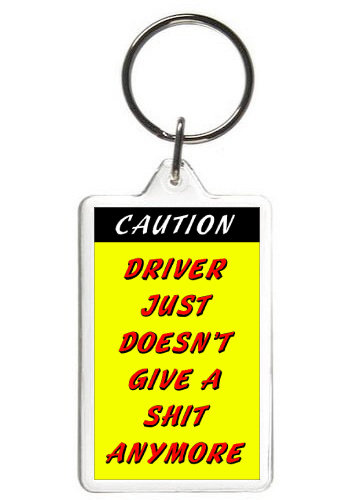 DRIVER DOESN'T GIVE A SHIT - KEY CHAIN