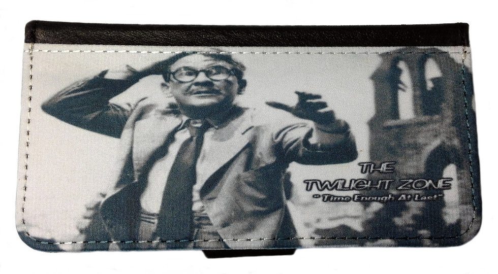 TWILIGHT ZONE (teal) - LEATHER WALLET