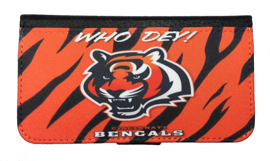 CINCINNATI BENGALS IPHONE OR GALAXY CELL PHONE CASE WALLET
