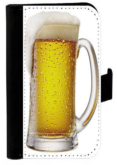 GLASS OF BEER IPHONE OR GALAXY CELL PHONE CASE WALLET