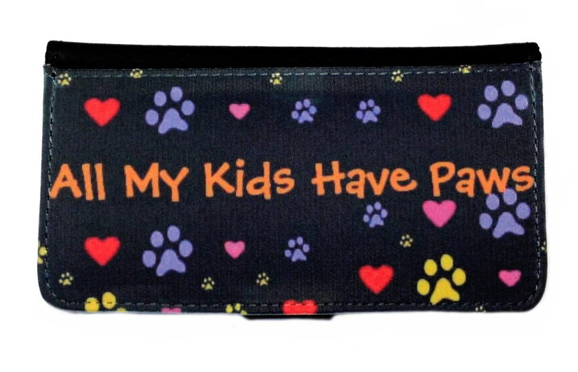 ALL MY KIDS HAVE PAWS IPHONE OR GALAXY CELL PHONE CASE WALLET WALLET