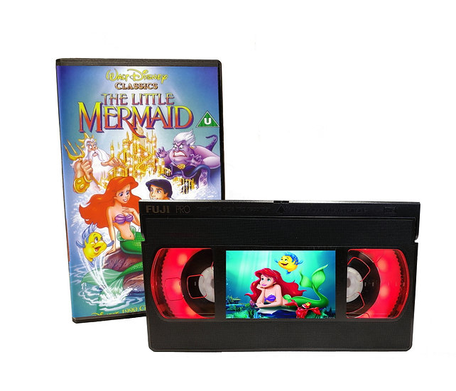 LITTLE MERMAID VHS MOVIE NIGHT LIGHT