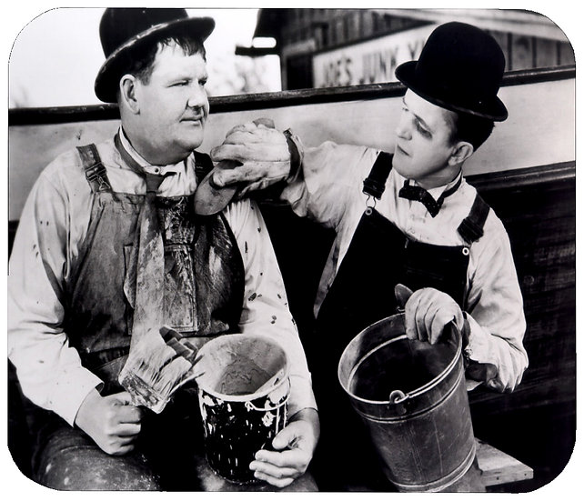 LAUREL AND HARDY MOUSE PAD (B)