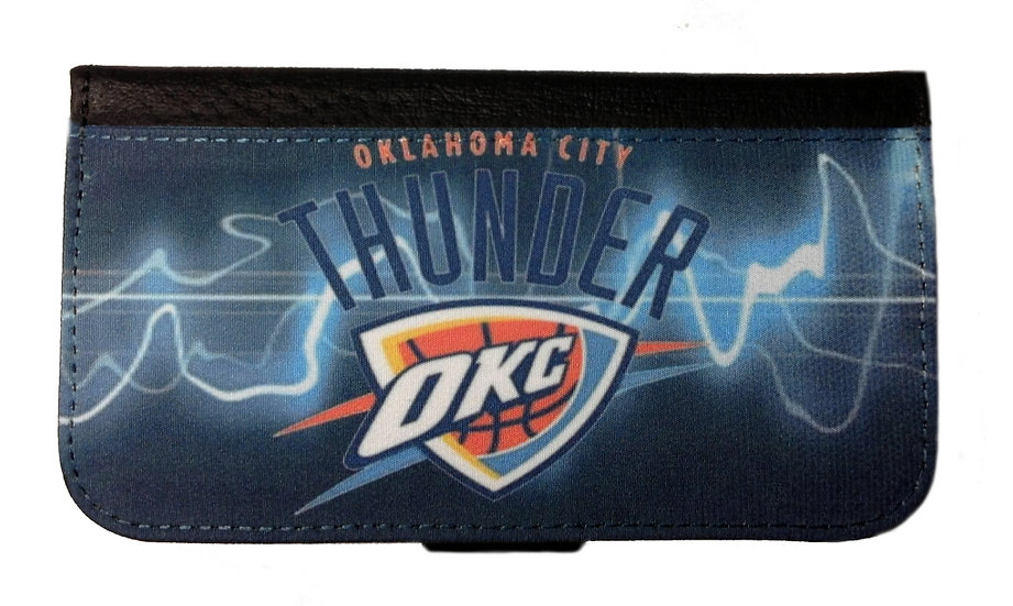 OKLAHOMA CITY THUNDER IPHONE OR GALAXY CELL PHONE CASE WALLET