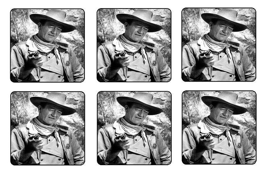 JOHN WAYNE BEVERAGE COASTERS