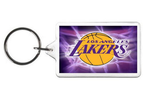 LOS ANGELES LAKERS KEY CHAIN - (PUR)