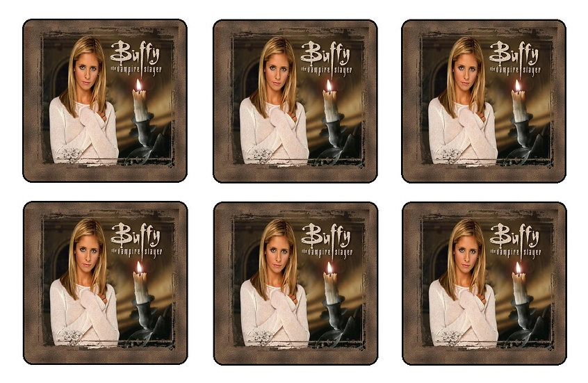 BUFFY THE VAMPIRE SLAYER BEVERAGE COASTERS