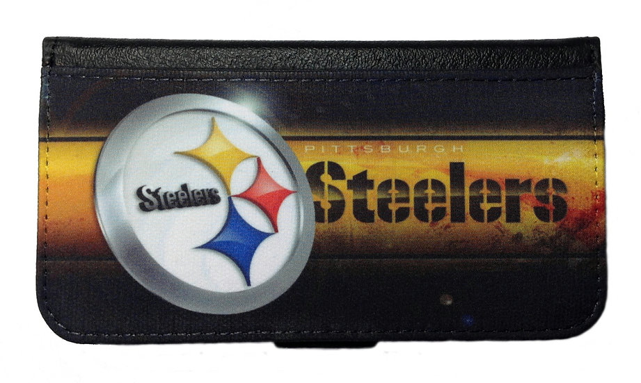 PITTSBURGH STEELERS IPHONE OR GALAXY CELL PHONE CASE WALLET