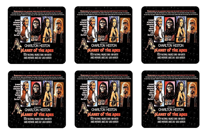 PLANET OF THE APES BEVERAGE COASTERS