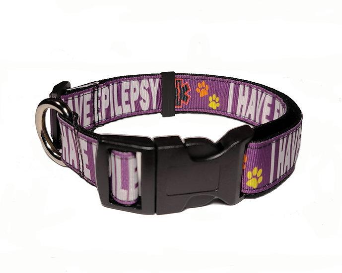 I HAVE EPILEPSY DOG COLLAR