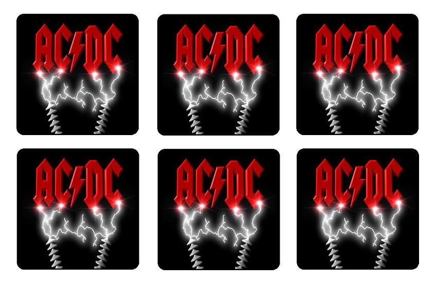 AC/DC BEVERAGE COASTERS