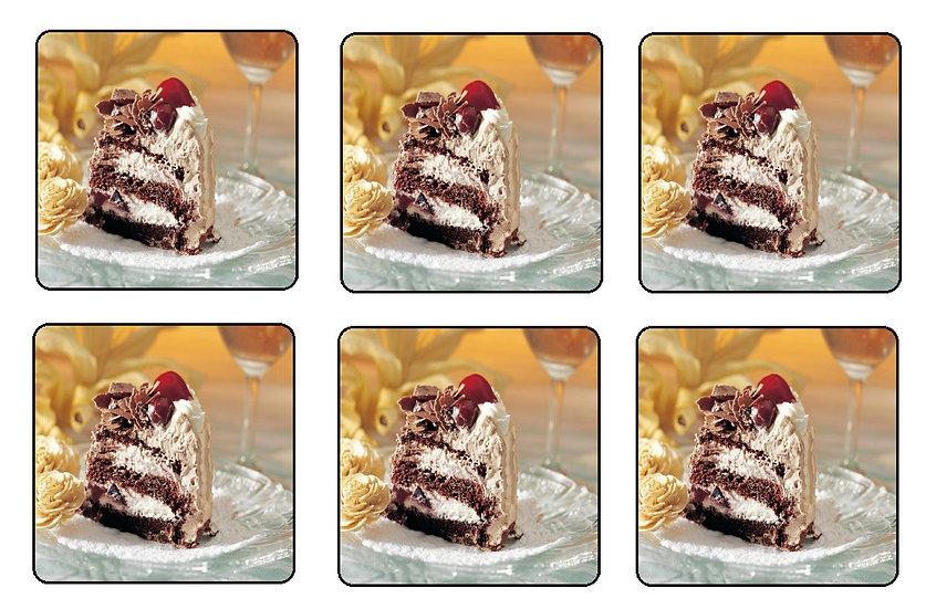 CHOCOLATE CREAM CAKE BEVERAGE COASTERS