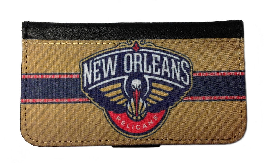 NEW ORLEANS PELICANS IPHONE OR GALAXY CELL PHONE CASE WALLET