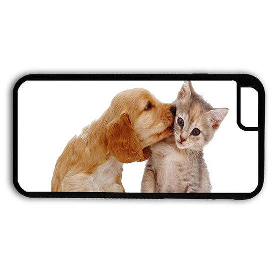 DOG KISSING CAT - RUBBER GRIP