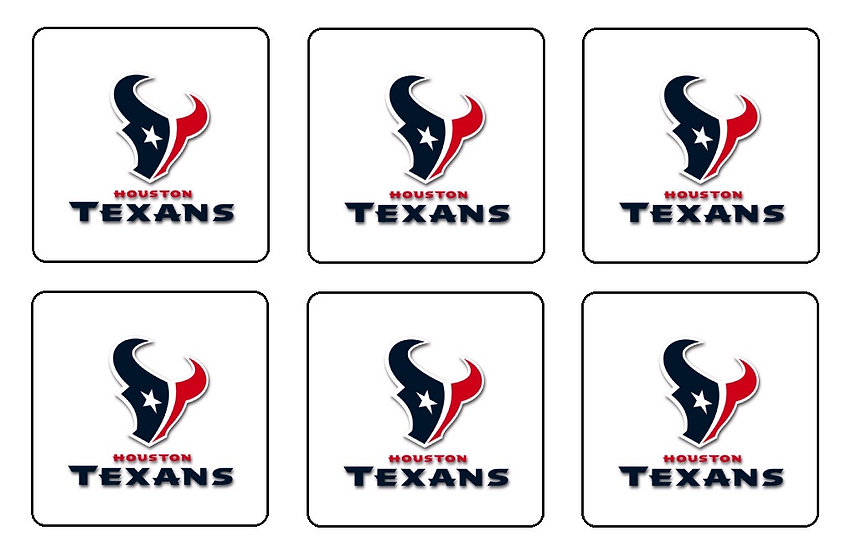 HOUSTON TEXANS BEVERAGE COASTERS