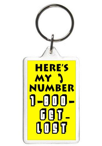 1-800-GET LOST - KEY CHAIN