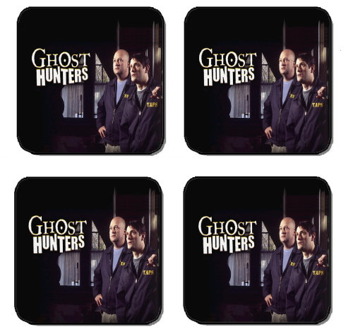 GHOST HUNTERS TAPS BEVERAGE COASTERS