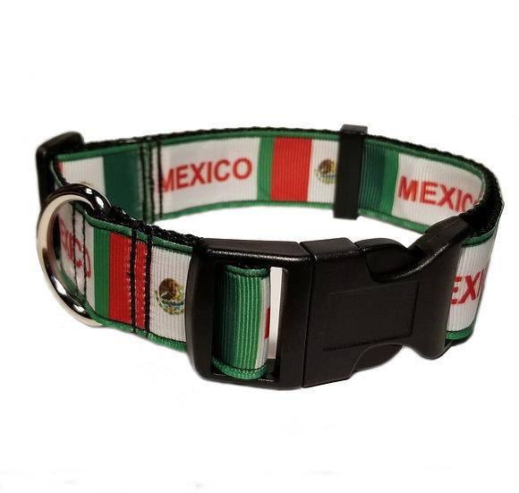 MEXICO FLAG DOG COLLAR