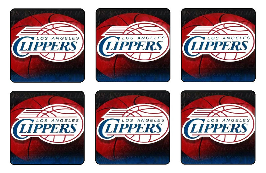 LOS ANGELES CLIPPERS BEVERAGE COASTERS