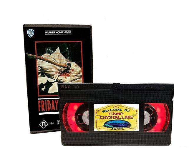 FRIDAY THE 13TH VHS MOVIE NIGHT LIGHT