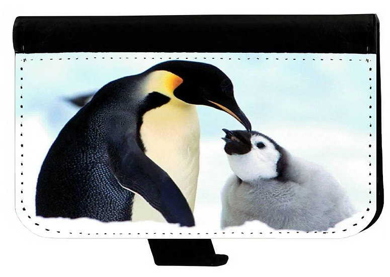 PENGUINS IPHONE OR GALAXY CELL PHONE CASE WALLET WALLET