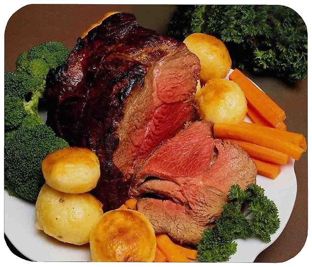 ROAST BEEF DINNER MOUSE PAD