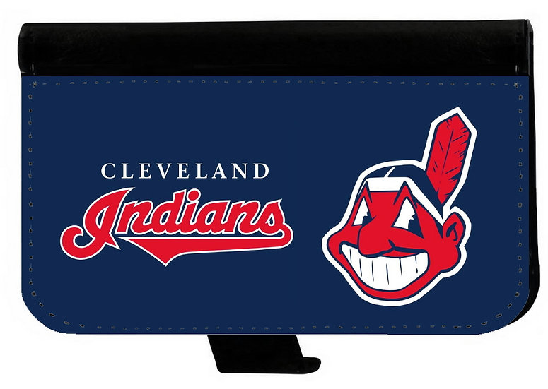 CLEVELAND INDIANS IPHONE OR GALAXY CELL PHONE WALLET