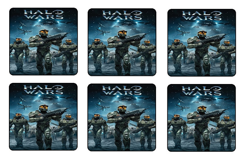 HALO WARS BEVERAGE COASTERS