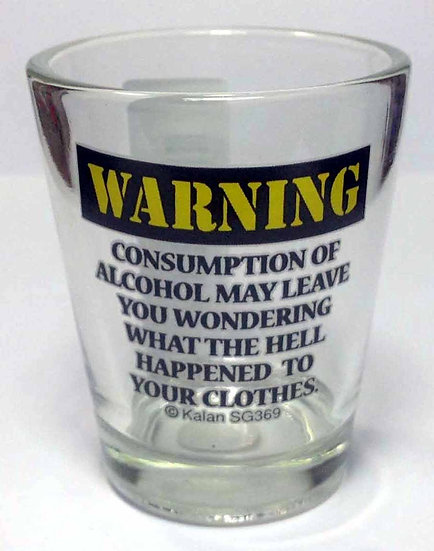 WARNING CONSUMPTION OF ALCOHOL - SHOT GLASS