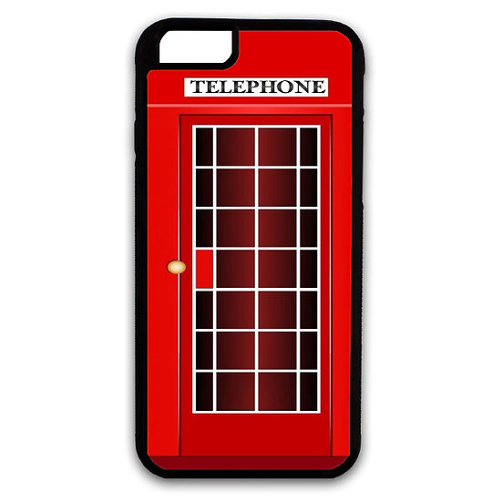 RED RETRO PHONE BOOTHE - RUBBER GRIP