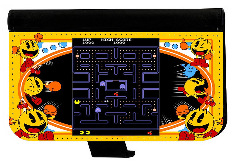 PAC MAN - LEATHER WALLET