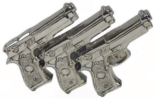 TRI GUN BELT BUCKLE