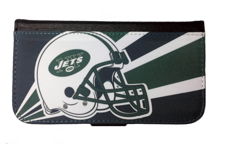 NEW YORK JETS IPHONE OR GALAXY CELL PHONE CASE WALLET
